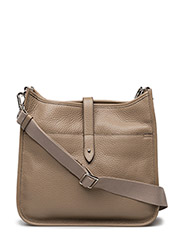 Cross body bag with canvas - STONE