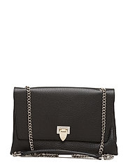 Big clutch with buckle and chain - BLACK