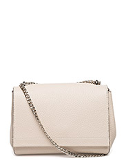 Small clutch with double chain - CREAM