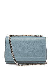 Small clutch with double chain - DOVE BLUE