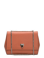 Big bag with buckle and chain - AUTUMN ORANGE