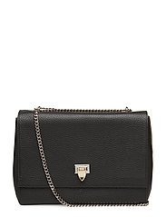 Big bag with buckle and chain - BLACK