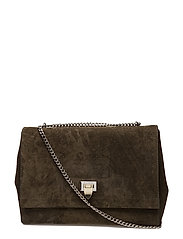 Big bag with buckle and chain - SUEDE ARMY