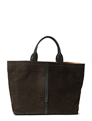 Wide Hand Tote - Nubuck Charcoal