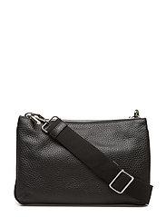 Alexa double bag w. canvas strap - BLACK