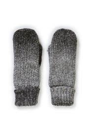 Ladies knitted mittens - Mixedgreymel.W.lurex