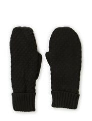 Ladies knitted mittens - Black