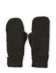 Ladies knitted mittens - Blackmelange