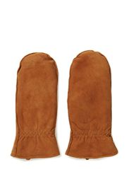 Ladies suede mittens - Copperbrown
