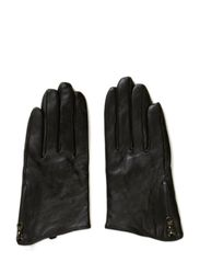 Ladies leather glove w.zipper - Black