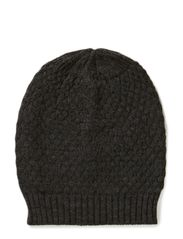 Ladies knitted hat - Blackmelange