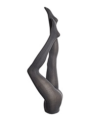 Tights with herringbone - GREY