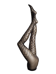 Ladies tights - mosaic - BLACK