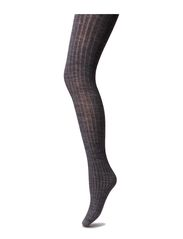 Rib wool tights - Grey