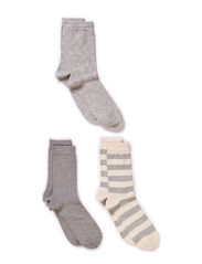 Ladies fashion ankelsock 3pack - Grey