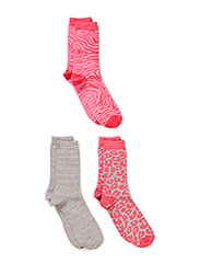 Ladies fashion ankelsock 3pack - Rose