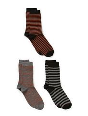 Ladies fashion ankelsock 3pack - Black/grey/bronzecombi