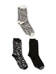 Ladies fashion ankelsock 3pack - Black/moonbeamcombi