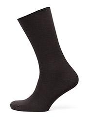 Ladies fine knit ankle sock - BLACK