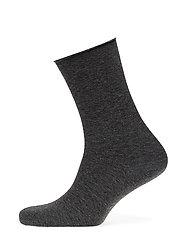 Fine knit ankle sock - MEDIUMGREY MELANGE