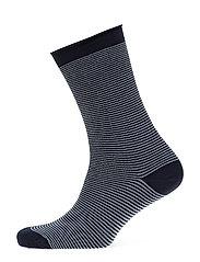 Fine knit ankle sock - STRIPES/ LIGHT BLUE