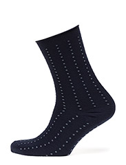 Fine knit ankle sock - BLUE WITH LIGHT BLUE DOTS