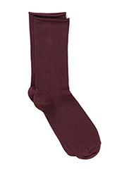 Ladies thin ankle sock - DARK CABERNET