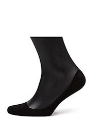 Ladies thin ballerina footie - BLACK