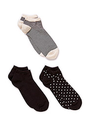 Ladies sneaker sock 3-pack - Black