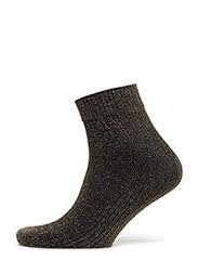 Ankle sock - lurex rib - BLACK