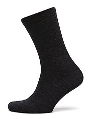 Wool, Double face ankle sock - CHARCOAL MELANGE