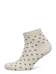 Ladies sock with lurex - CREAM W/LUREX DOTS