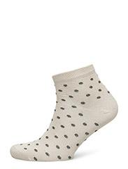 Ladies sock with lurex - CREAM W/LUREX DOTS