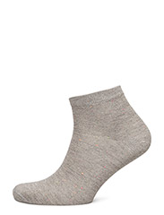 Ladies lurex effect low cut - GREY W/LUREX