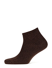 Fashion low cut sock with lurex - BROWN LUREX
