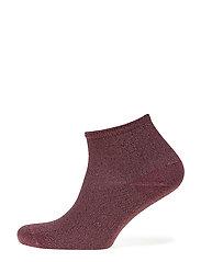 Fashion low cut sock with lurex - LILAC LUREX
