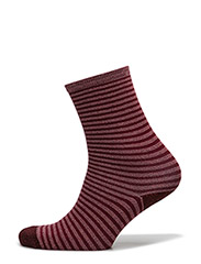 Fashion ankel sock with lurex - PURPLE W/ LILAC LUREX STRIPES