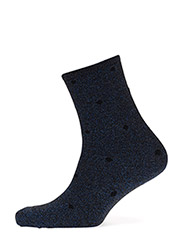 Fashion low cut sock with lurex - BLUE LUREX WITH BLACK DOTS