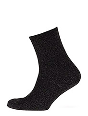 Fashion low cut sock with lurex - BLACK LUREX WITH GREEN DOTS