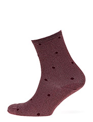 Fashion low cut sock with lurex - LILAC LUREX WITH PURPLE DOT