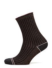 Rib Fashion ankel sock with lurex - COBBER LUREX