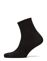Fashion ankel sock with lurex - BLACK LUREX