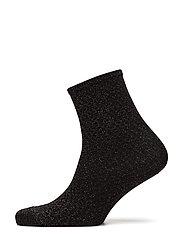 Fashion ankel sock with lurex - BLACK LUREX