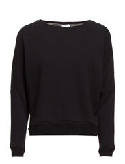 HW SweatShirt,3/4 sleeve,Short - Black