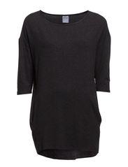 HW LongT-Shirt 3/4slvs.w.pocs. - Black Melange