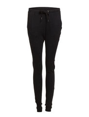 HW Pants w adjust.waist string - Black Melange