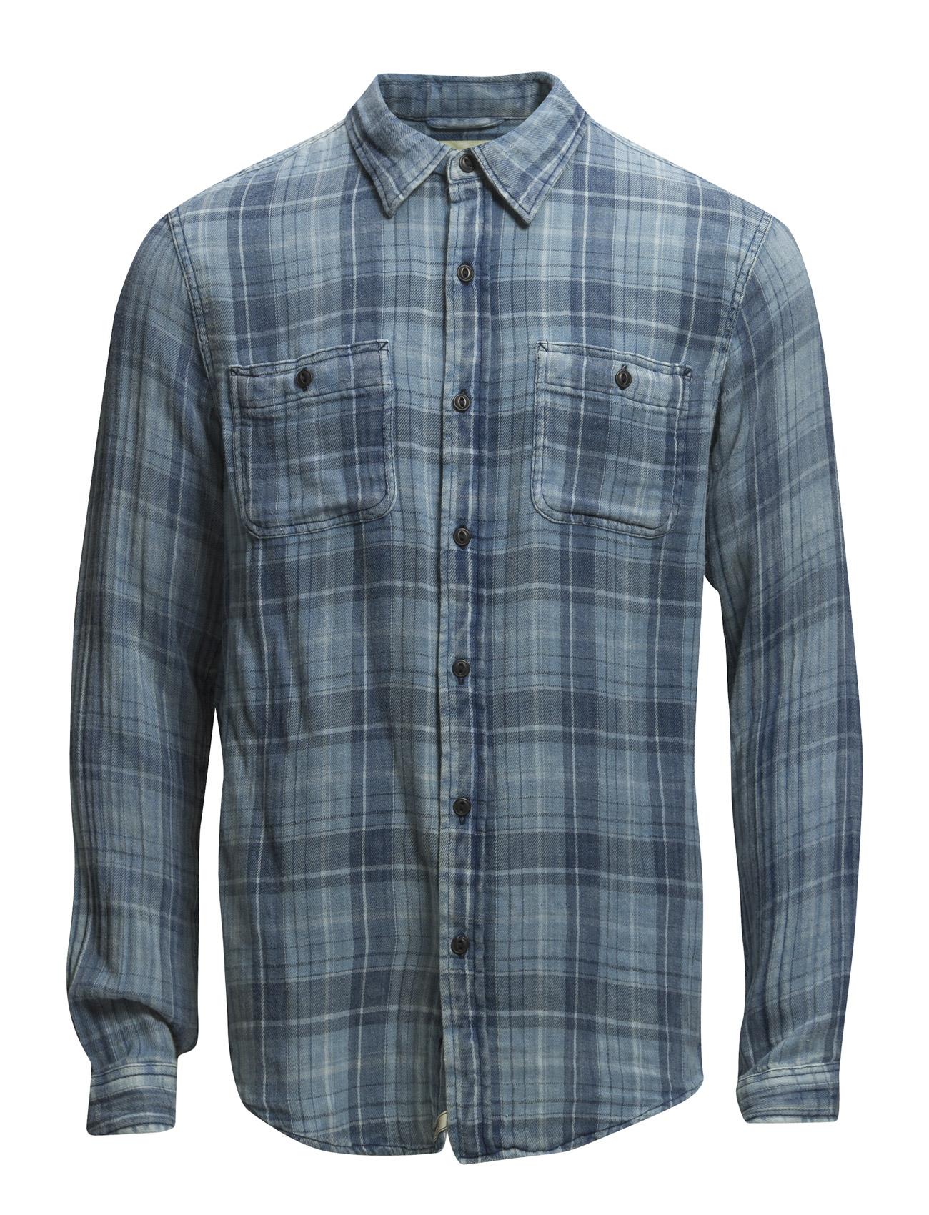 Indigo Plaid Cotton Ward Shirt