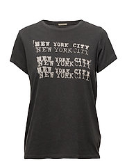 Cotton Jersey Graphic Tee - POLO BLACK NYC STAMP