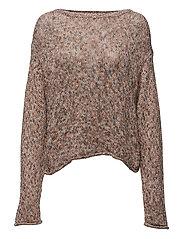 Cotton Crewneck Sweater - ORANGE MULTI