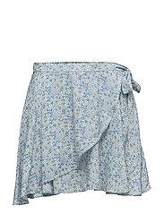 Floral-Print Wrap Skirt - LANCI FLORAL